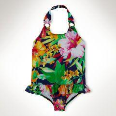 Floral One-Piece Swimsuit - Girls 2-6X Swimwear - RalphLauren.com