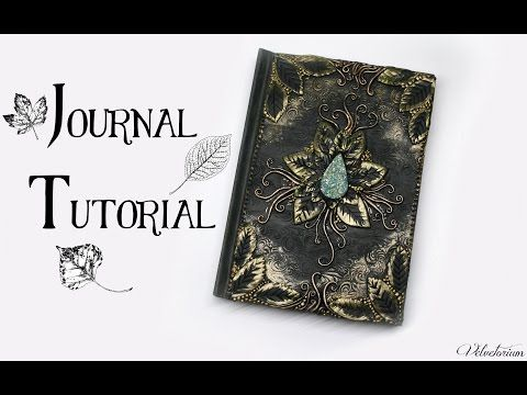 Polymer Clay Journal Cover Tutorial | Leafy Nature Fantasy DIY Book Cover - YouTube