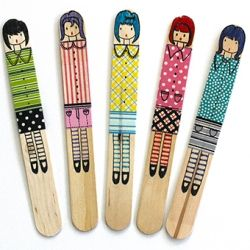 Make these cute little craft stick dolls for hours of fun!