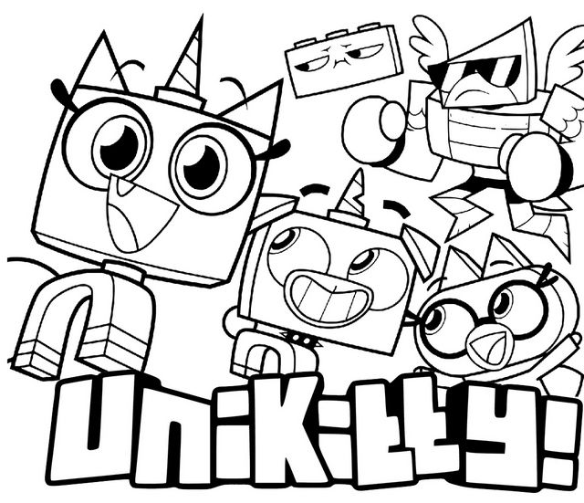 Coloring Pages Unikitty Google Search Lego Coloring Pages