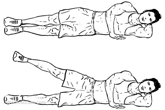 Lying Side Leg Lifts / Lateral Raises / Hip Abductors / Adductors