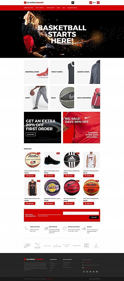 OlympicChamps - Basketball MotoCMS Ecommerce Template