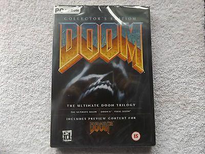 DOOM COLLECTOR'S EDITION PC NEW SEALED FPS ( ultimate doom doom II final doom )
