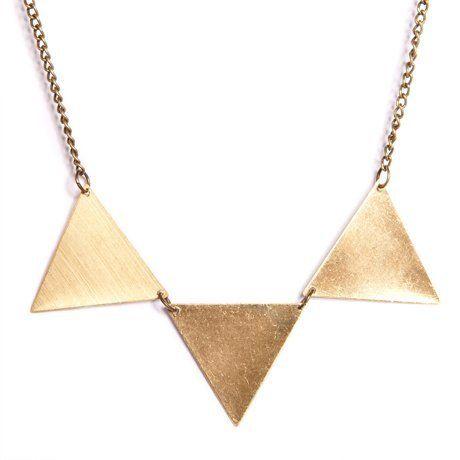 Brass bunting necklace. #geometric