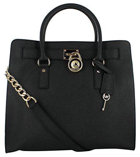 746458e4f Michael KORS HAMILTON NS TOTE, BLACK Saffiano Leather GOLD LOCK n KEY  30S2GHMT3L | INTENSITY Fashions | Michael kors hamilton, Michael kors bag,  ...