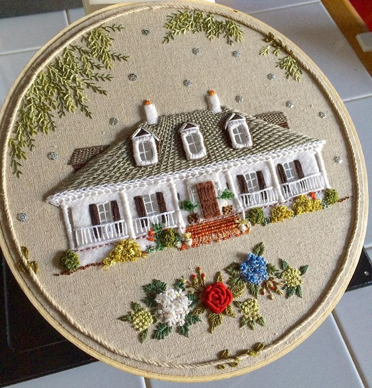 Lovely 3D effect, applique and embroidery.  More photos at the artist's FB page: https://www.facebook.com/themonsterslounge/?fref=ts