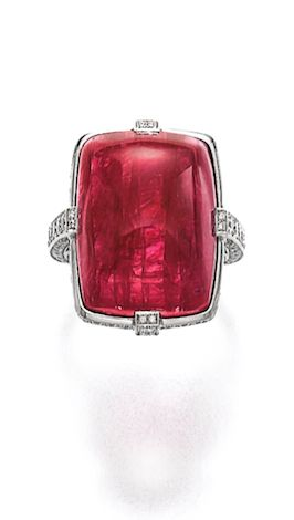 Pigeon Heart Ruby Ring, 31.30 carats, Cartier.