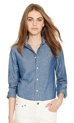 Custom-Fit Chambray Shirt - Polo Ralph Lauren New Arrivals - RalphLauren.com