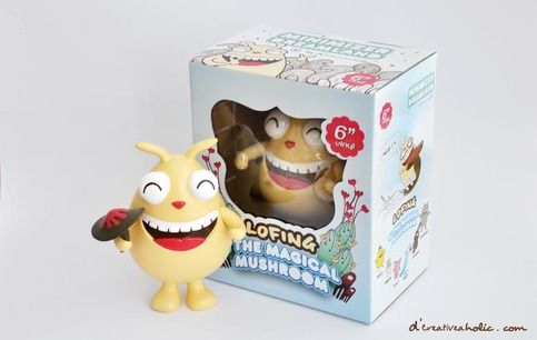 """D'creativeaholic and Creo Design are proud to present the new release of 'Lofing & The Magical Mushroom' 6"""" Colour collectible vinyl figure.    Lofing, created by creator of D'creativeaholic, Shenly Yee - is the main character of the 'Minimizer Dreamland' series which was developed in 2008.    Co..."""