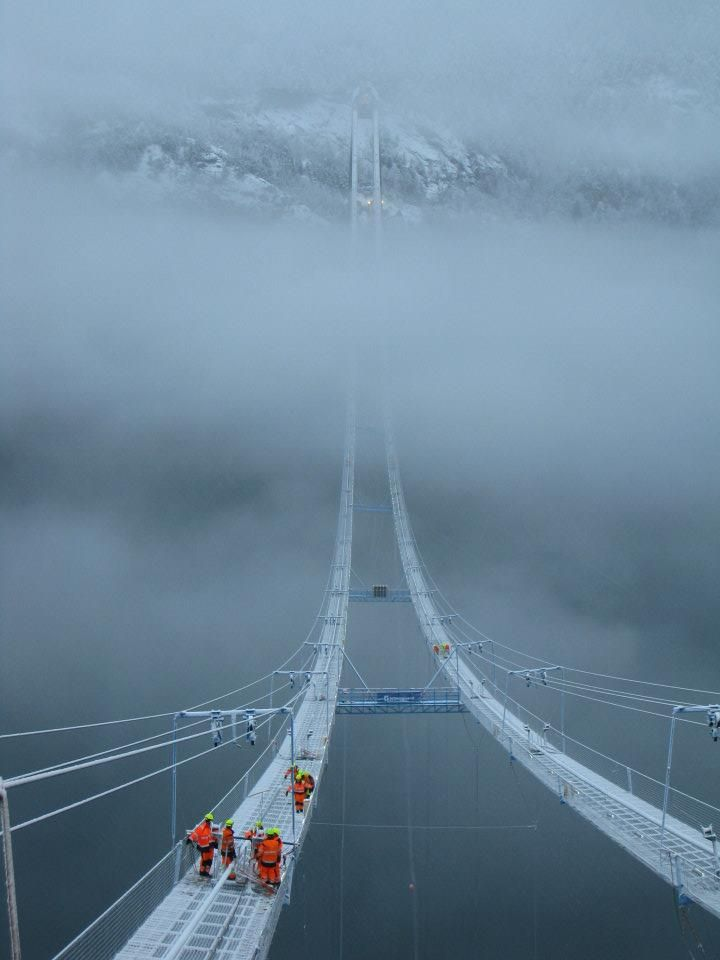 A walk in the clouds | The Norway Sky Bridge.