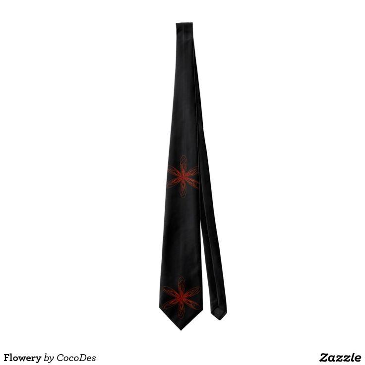 Flowery Tie