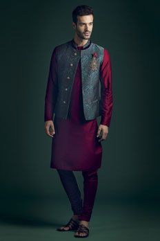 Love the Indowestern Kurta Churidar from BenzerWorld!