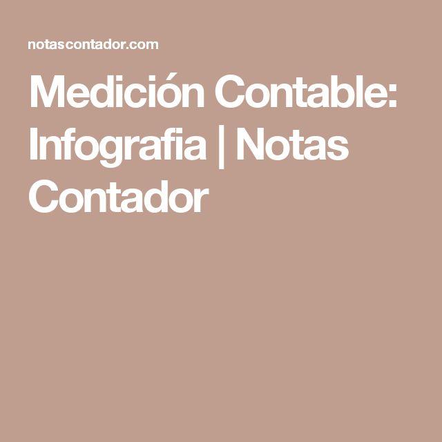 Medición Contable: Infografia | Notas Contador