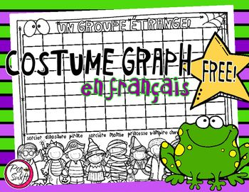 French Halloween Costume Graph! Perfect for Halloween day at school:) Graph your group of students according to the costume they are wearing OR will wear OR want to wear for Halloween;) Un groupe trange! You may also like Brouet de sorcire!**************************************************************************Copyright 2016 PegSwiftBy downloading this FREE product, you agree that you are entitled to one (1) non-transferable, single-use license for one classroom only.Thank-you for…