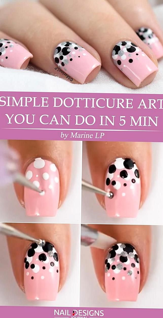 Simple Nail Designs Are So Easy To Duplicate At Home With The Right Colors And A Few Nail Tools Or Everyda Fancy Nail Art Dot Nail Designs Simple Nail Designs