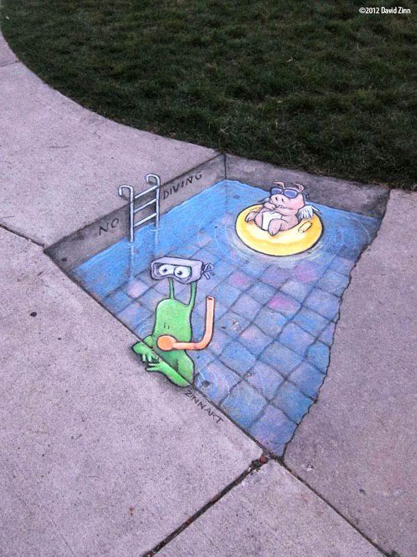 Best David Zinn Images On Pinterest Urban Art Cities And Do - David zinns 3d chalk art adorably creative
