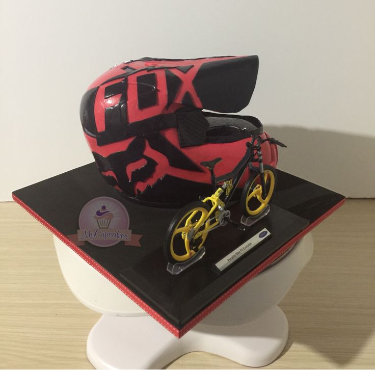 Torta casco bicicross fox vh1