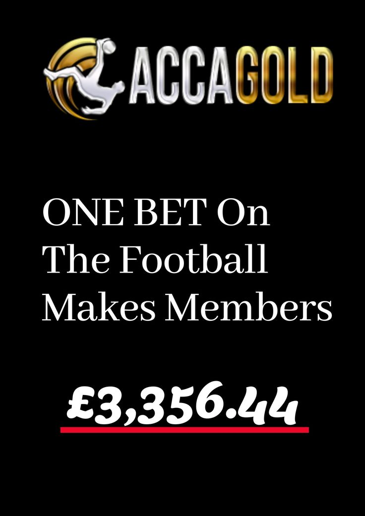ACCA GOLD Bet football, Sports predictions, Sports picks