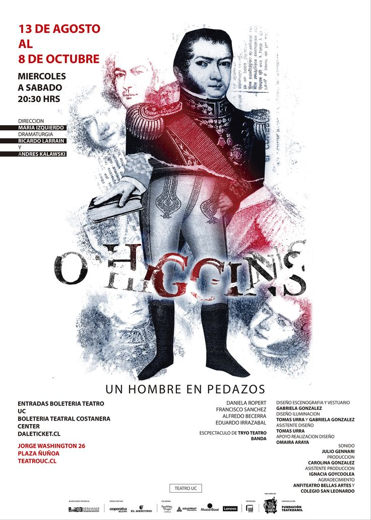 AFICHE O'HIGGINS: UN HOMBRE EN PEDAZOS