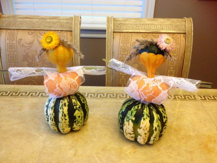 Little ladies - Thanksgiving pumpkin decoration
