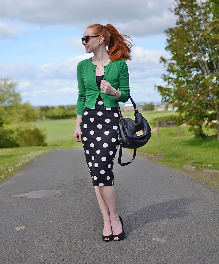 polka dot pencil skirt                                                                                                                                                     More