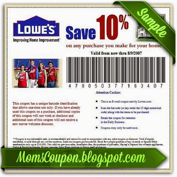 Lowes discount coupons 2019