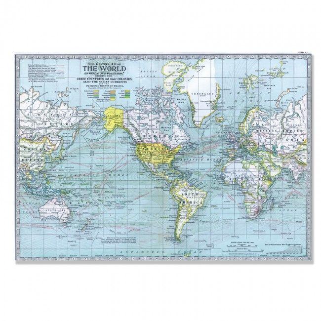 World Map 3 — Century Atlas
