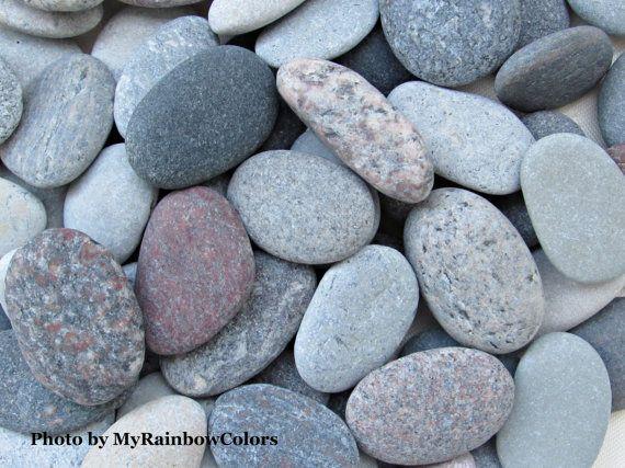 60 Sea Stones 12  16 Oval Beach Pebbles Beach #MyRainbowColors #beachstones #seastones #nature