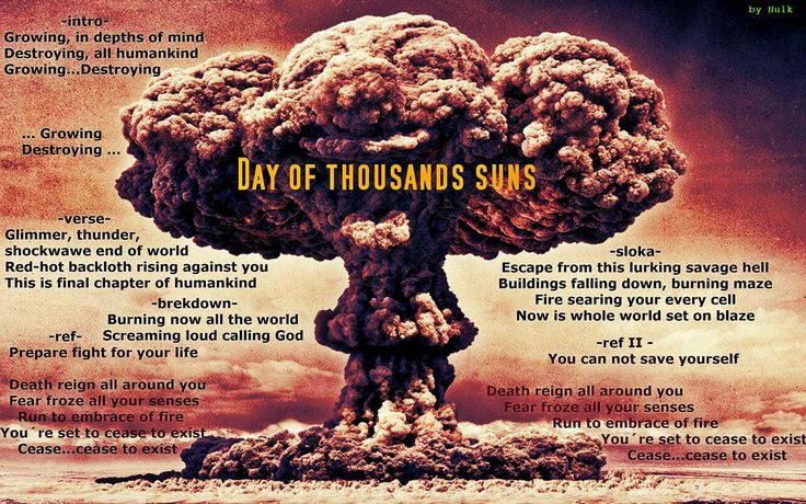 Day of thousand suns