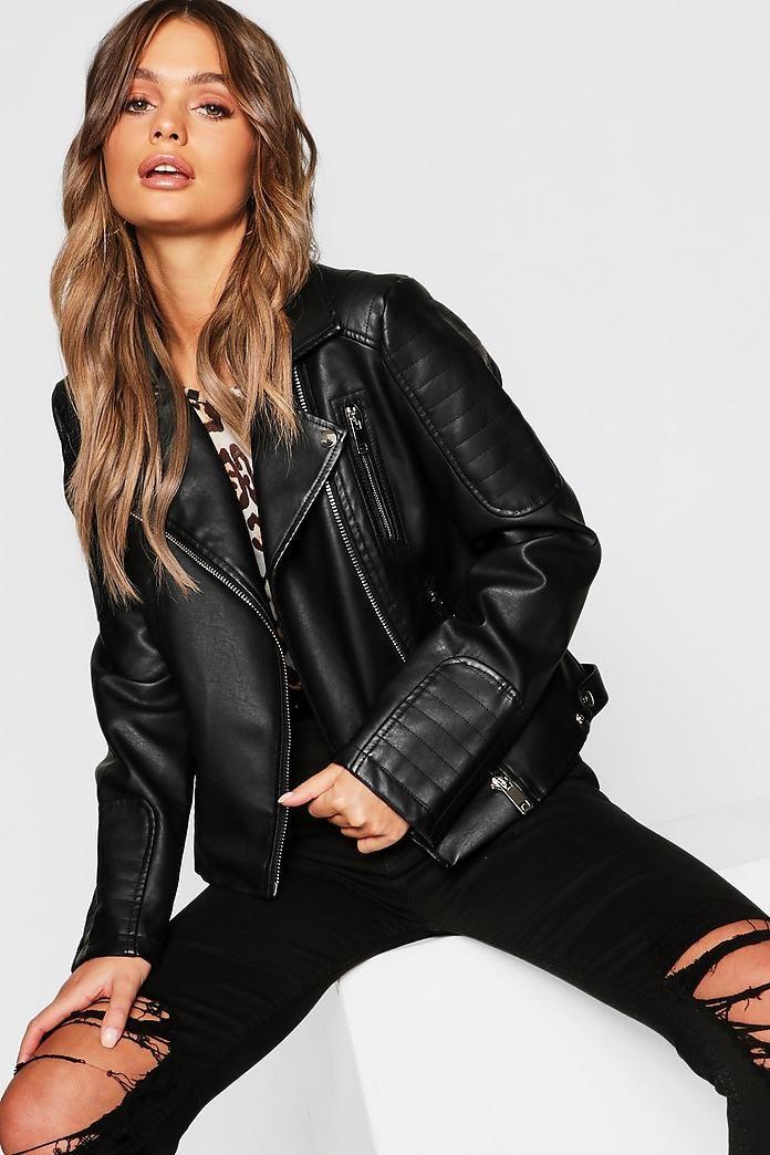 e5dcac19f Faux Leather Biker Jacket in 2019   biker babes   Leather jacket ...