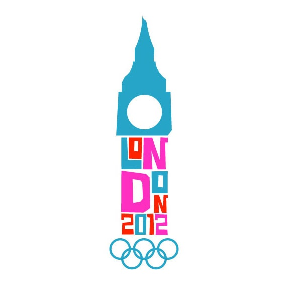 A classroom attempt by Joe Brust at redesigning the insanely bad London 2012 Olympics logo. I think this is head and shoulders above the actual logo while maintaining a distinctly British feel.