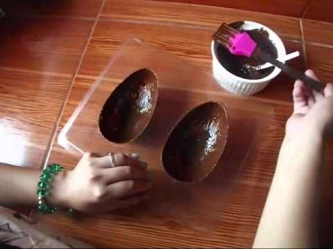 DIY: Huevos de Pascua de Chocolate / Chocolate Easter Eggs - YouTube