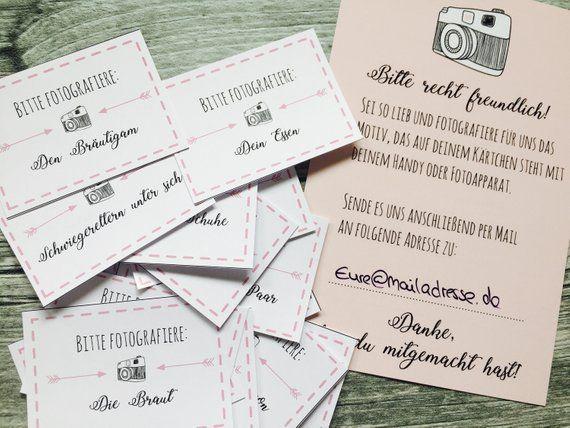 Hochzeitsspiel 54 Fotoaufträge – Fotospiel PDF