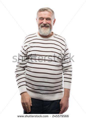 beautiful portrait of an elderly man with a beard