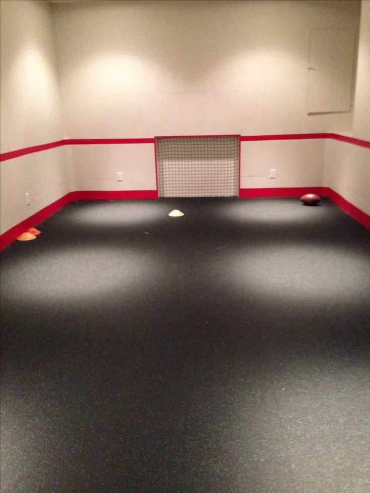 Room converted into indoor soccer room