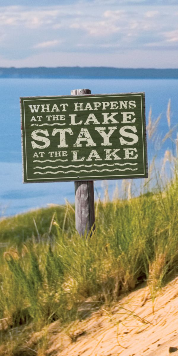 Life at the lake is meant to be enjoyed. With a craft beer or glass of wine. And because every hour is happy hour. What happens at the lake, stays at the lake. #PureMichiganLakeEffect