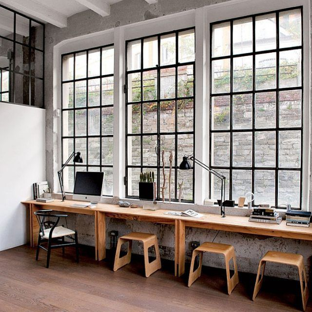 54 best for the space images on pinterest home workshop for Industrial modern office
