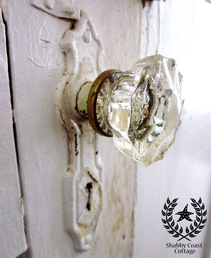Annabellea And Shabby Coast Cottage Glass Door Knob