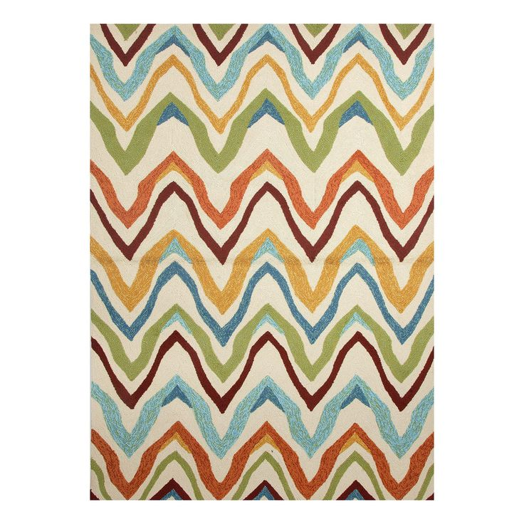 The color palette and zig-zag pattern on the Coastal Lagoon Bahia Rug from Jaipur brings about images of a sunny vacation along the beaches of Baja. http://www.yliving.com/blog/top-10-bold-modern-rugs/