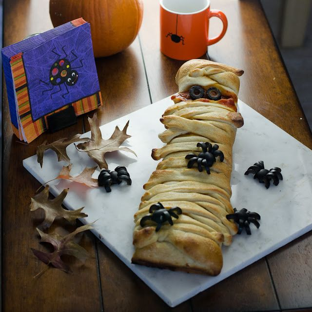 A Mummy Calzone is an Easy Halloween Eat   Olives, Easy ...