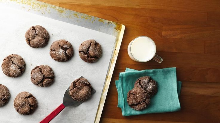 Cake Mix Fudge Crinkle Cookies - Have cake mix?  Make cookies!  It's easy to make classic chocolate crinkle cookies with a mix.