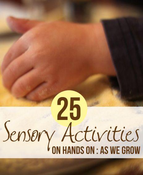 25 Sensory Activities for Kids - let them explore