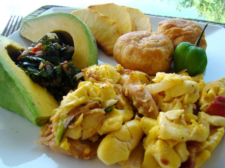 Ackee and Saltfish - Jamaican national dish and best breakfast in the world!