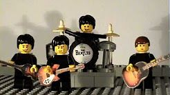 lego beatles at there best singing happy birthday