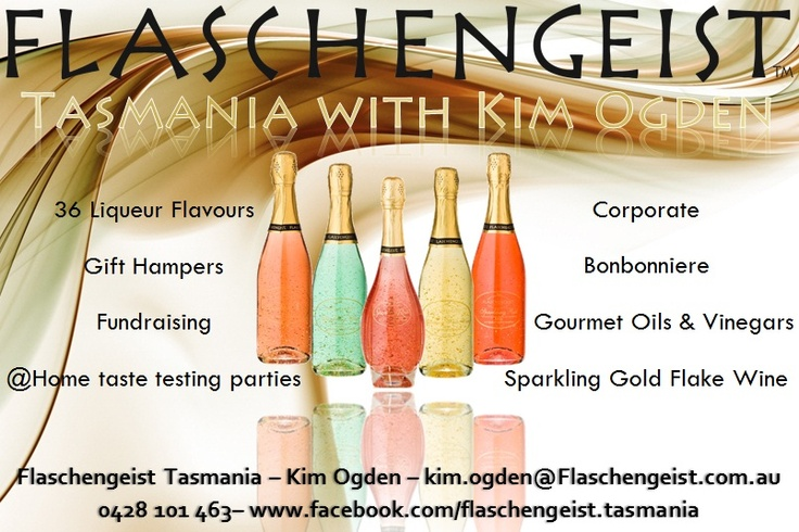 Book your Flaschengeist Tasting party with me to sample a selection of liqueurs, cocktails and delicious Flasch treats!