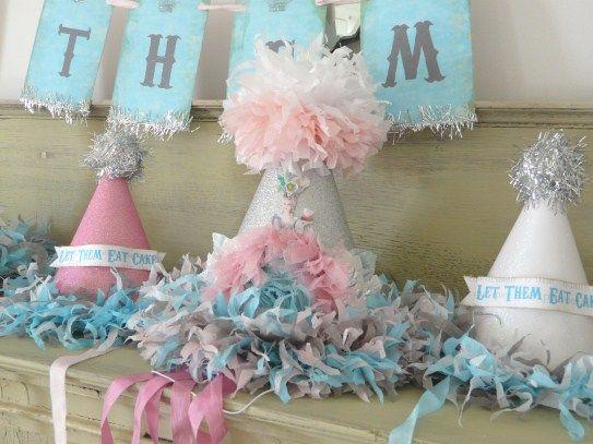 The Vintage Cinderella Glittered Birthday Party Hat