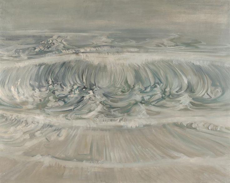 Edward Middleditch (British, 1923-1987), The Wave. Oil on canvas, 122 x 153 cm.via dappledwithshadow