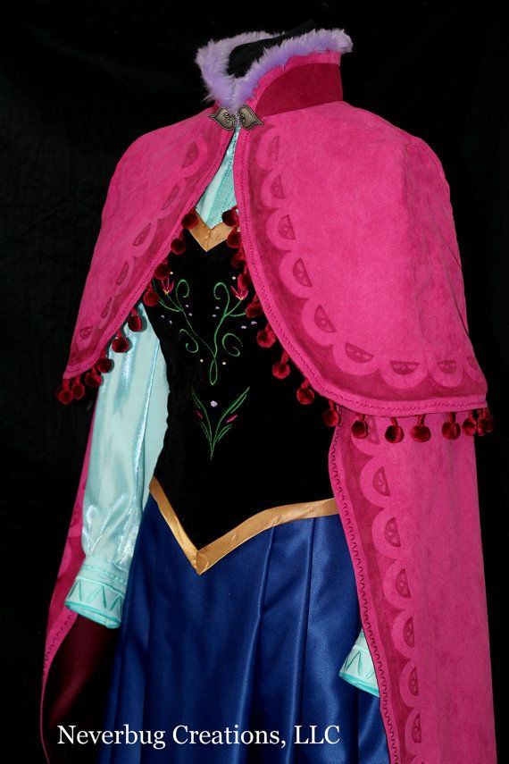 NeverbugCreations does such great work! Love this one! Anna Costume With or Without Cape by NeverbugCreations on Etsy, $850.00