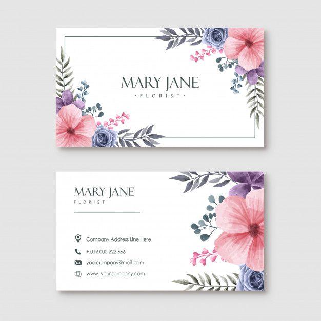 Wedding Invitation Card Template Unique Watercolor Floral Card Template Stock Illustration Floral Cards Floral Invitations Template Greeting Card Template