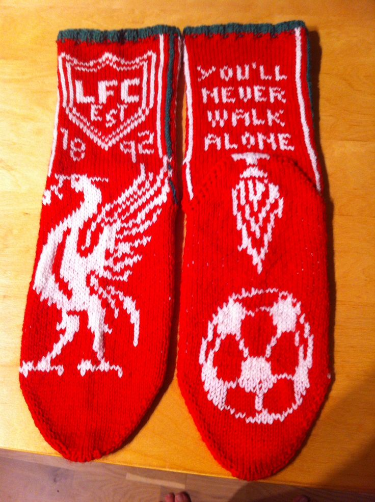 Liverpool-socks. Pattern made of me